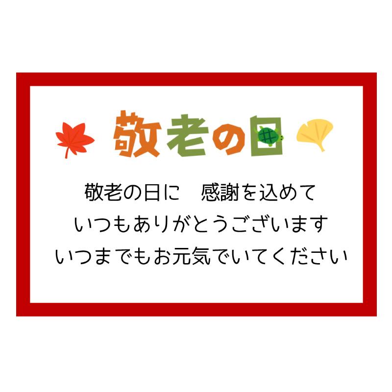 敬老の日専用メッセージカード