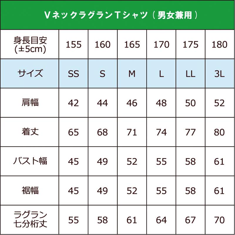 SILVER+Vネック ラグランTシャツ(襟無し)+プリント(炎龍)【2月末日まで】
