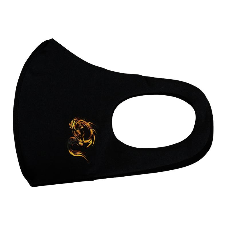 プリントマスク(炎龍)【日本製】<返品・交換不可>