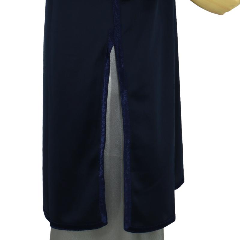 【数量限定】プルオーバーQ型 トワイライトニット使用青紫【紺色・七分袖・男女兼用】