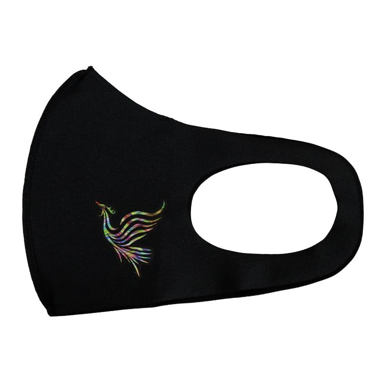 プリントマスク(虹の鳳凰)【日本製】<返品・交換不可>
