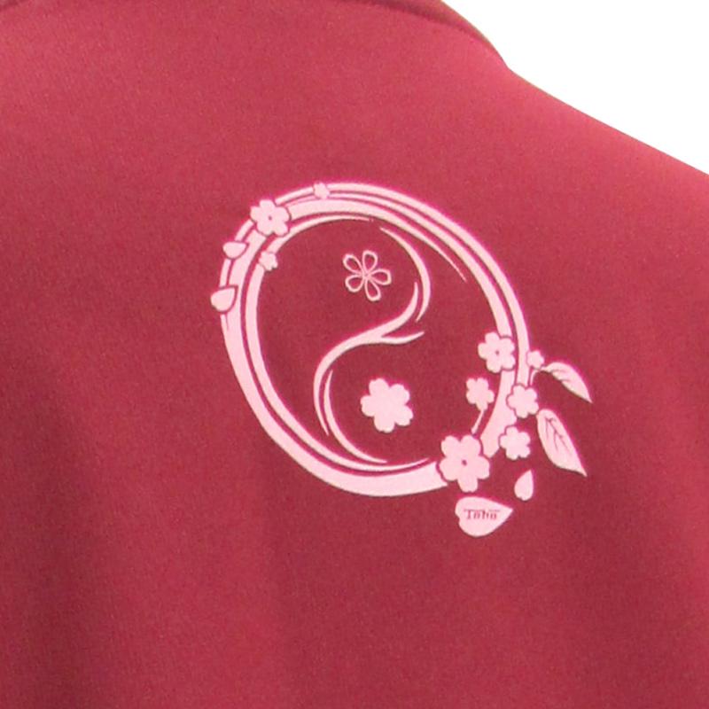 吸汗ドライTシャツ 陰陽(桜)【長袖・プリント】