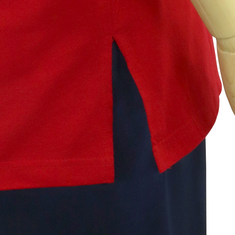 中国製 綿100%Tシャツ 太極(赤・S、Mサイズ)【半袖・プリント】