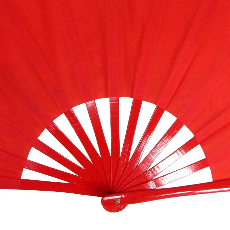 【中国製扇】赤無地(赤×赤骨)
