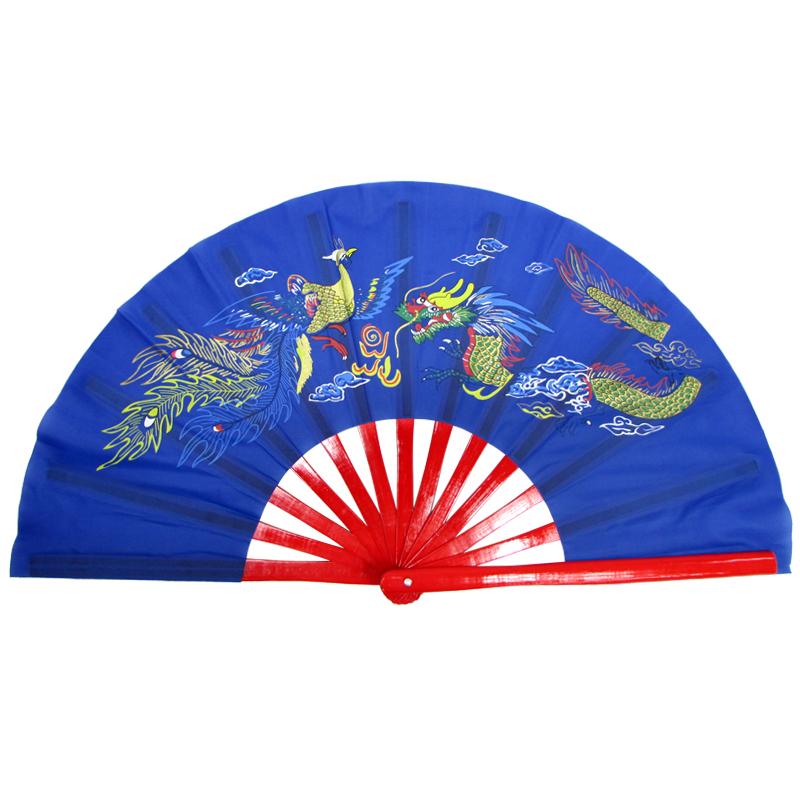 【中国製扇】鳳凰龍(青×赤骨)