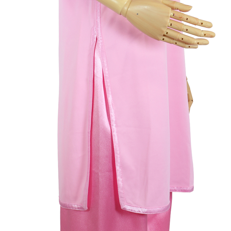【数量限定】プルオーバーQ型 トワイライトニット使用金紫【桜色・七分袖・男女兼用】