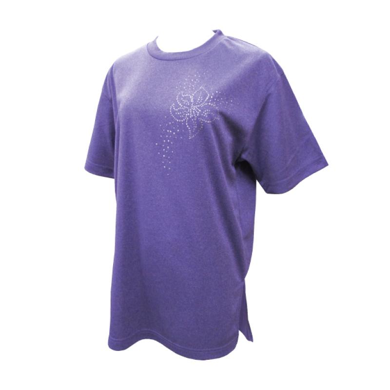 綿100%Tシャツ 花の星座【半袖・ラインストーン】