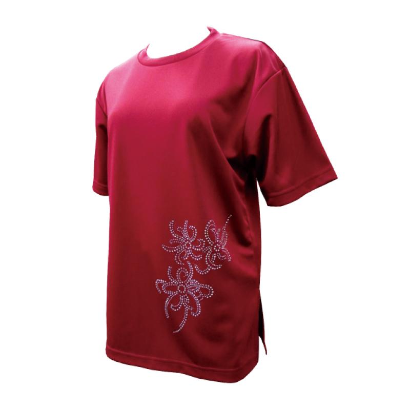 綿100%Tシャツ リボン【半袖・ラインストーン】