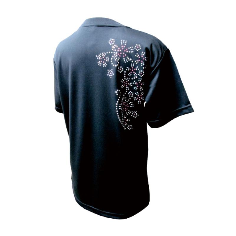 綿100%Tシャツ なでしこピンク【半袖・ラインストーン】