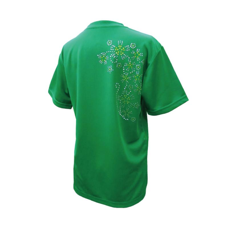 綿100%Tシャツ なでしこイエロー【半袖・ラインストーン】