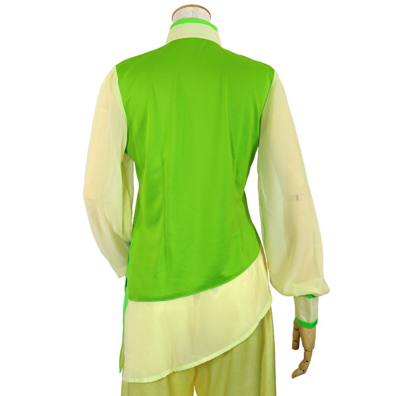 【数量限定】プルオーバーY型 シフォンジョーゼット使用【黄緑色・長袖・婦人用】
