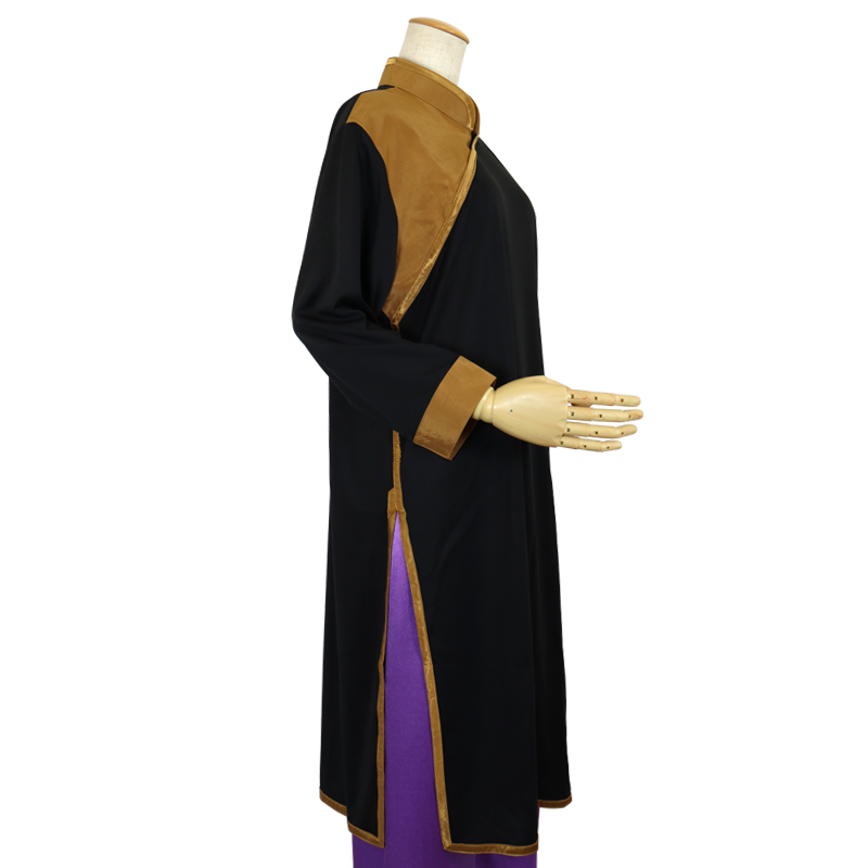 【数量限定】プルオーバーQ型 バックサテン使用【黒色・七分袖・男女兼用】