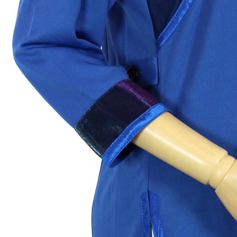 【数量限定】プルオーバーV型 トワイライトニット使用【青色・七分袖・男女兼用】