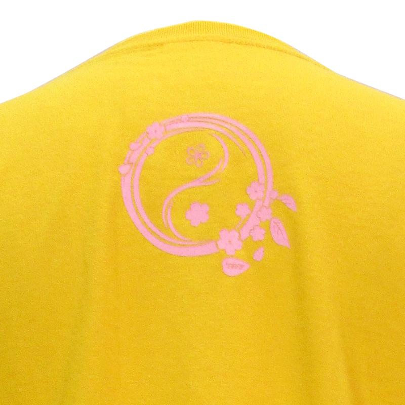綿100%Tシャツ 陰陽(桜)【半袖・プリント】