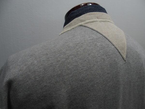 WAREHOUSE(ウエアハウス)Original Sweat [SET-IN SLEEVE SWEAT/Lot.466-Gray×Oatmeal/スウェット/ヴィンテージスウェット]