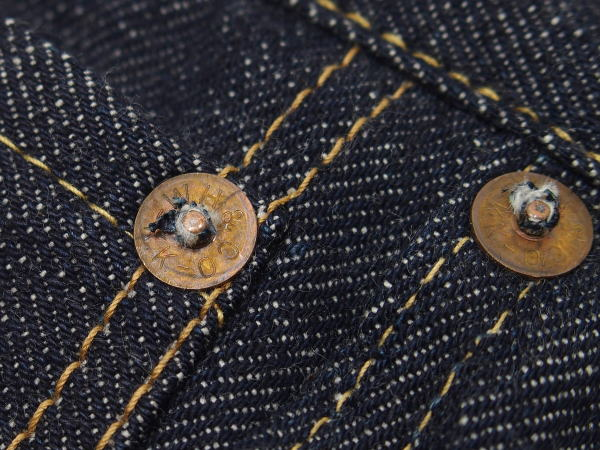 WAREHOUSE(ウエアハウス) [Lot.1001XX(1000XX) Late 1940's to 1950'/Copper-Colored Steel Buttons/ジーンズ]