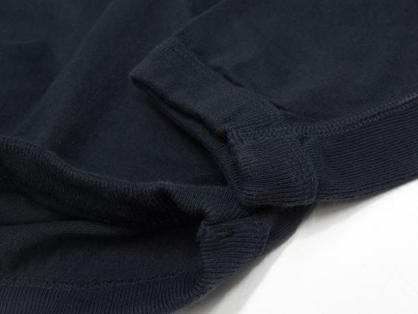 FULLCOUNT(フルカウント)[Lot.5222LH-20 Flatseam Heavy Weight 3B Henley Long T-Shirt/Ink Black/3Bヘンリー]