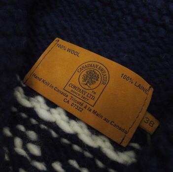【在庫処分/返品・交換不可】Canadian Sweater Company Ltd.(カナディアンセーター)[Canadian Pullover Sweater/別注デザイン!/カウチンセーター/カナディアンセーター]〜Hand Knit in Canada〜