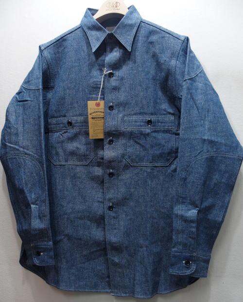 WAREHOUSE(ウエアハウス) [CAST IRON CHAMBRAY SHIRTS-Sax/Lot.3028/シャンブレーシャツ/ワークシャツ]