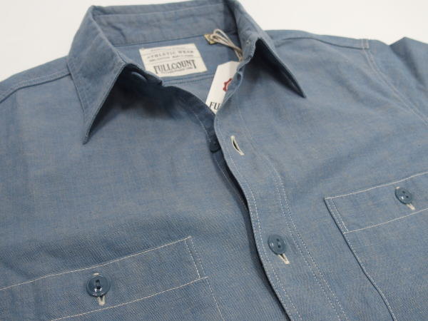 FULLCOUNT(フルカウント)[Lot.4810 5.0oz Original Selvedge Chambray Shirt/One Wash-Blue]
