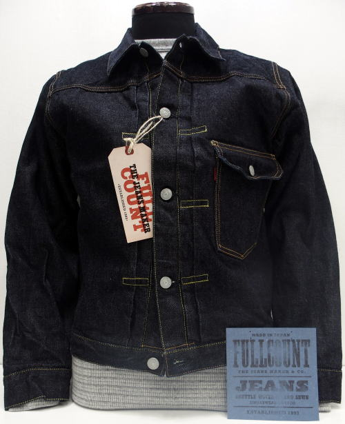 FULLCOUNT(フルカウント)[Lot.2107xx FLAP POCKET HEAVY OZ DENIM JACKET/1st Model-15.5oz/Gジャン/デニムジャケット]