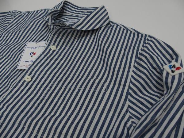 Arvor Maree(アルボー・マレー)[SAILOR WORK LONG SLEEVE SHIRT/Stripe/ワークシャツ]