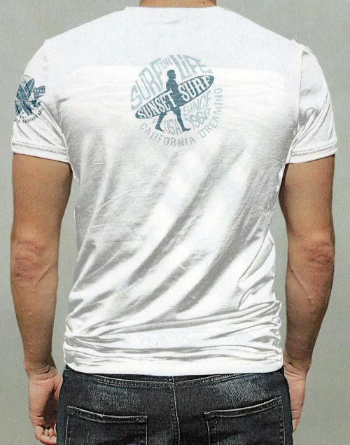 SUNSET SURF(サンセットサーフ)Safu T-Shirts[PALM TREE/Navy/半袖Tee/プリントTee]