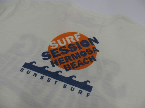 SUNSET SURF(サンセットサーフ)Safu T-Shirts[HERMOSA SESSION/Natural/半袖Tee/プリントTee]