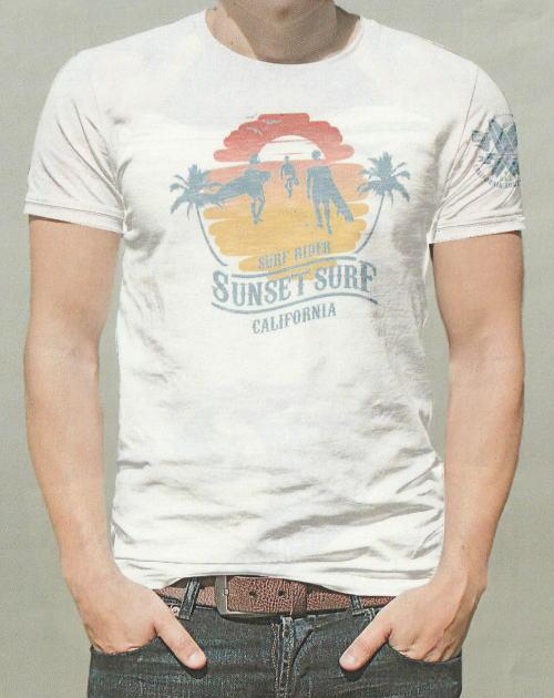 SUNSET SURF(サンセットサーフ)Safu T-Shirts[SUNSET BEACH/Natural/半袖Tee/プリントTee]