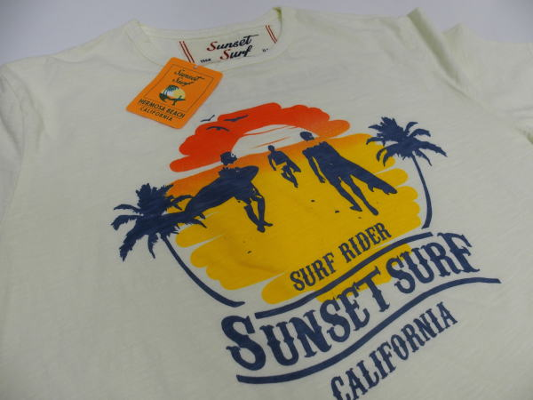 SUNSET SURF(サンセットサーフ)Safu T-Shirts[SUNSET BEACH/Natural/半袖Tee/プリントTee]