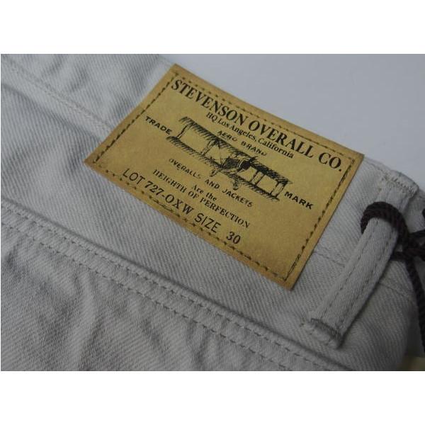 The Stevenson Overall Co.(スティーブンソンオーバーオール)[La Jolla/727-oxw/ホワイトデニム/ジーンズ/ラホーヤ]