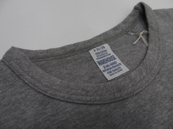 WAREHOUSE(ウエアハウス)Original Tee [2ND-HAND SERIES TEE/Lot.4064 BARRY FOR 64-Gray/半袖Tee]