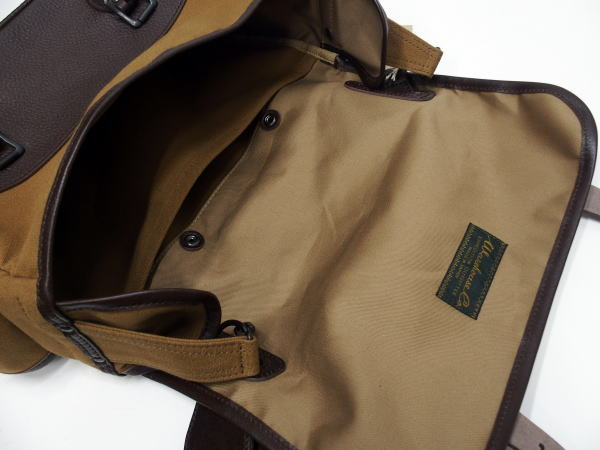 WAREHOUSE(ウエアハウス)[Lot.5219 LEATHER & CANVAS FIELD BAG/Brown/ショルダーバッグ]