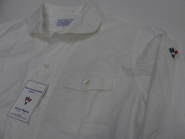 Arvor Maree(アルボー・マレー)[BROAD SAILOR-2 LONG SLEEVE SHIRT/White/長袖シャツ]