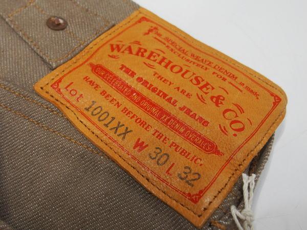 WAREHOUSE(ウエアハウス) [Lot.1001XX 1915 MODEL/Brown Denim-Belt Loop/ジーンズ]