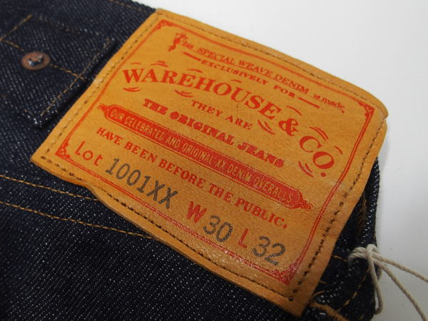 WAREHOUSE(ウエアハウス) [Lot.1001XX 1915 MODEL/Indigo Denim-Belt Loop/ジーンズ]