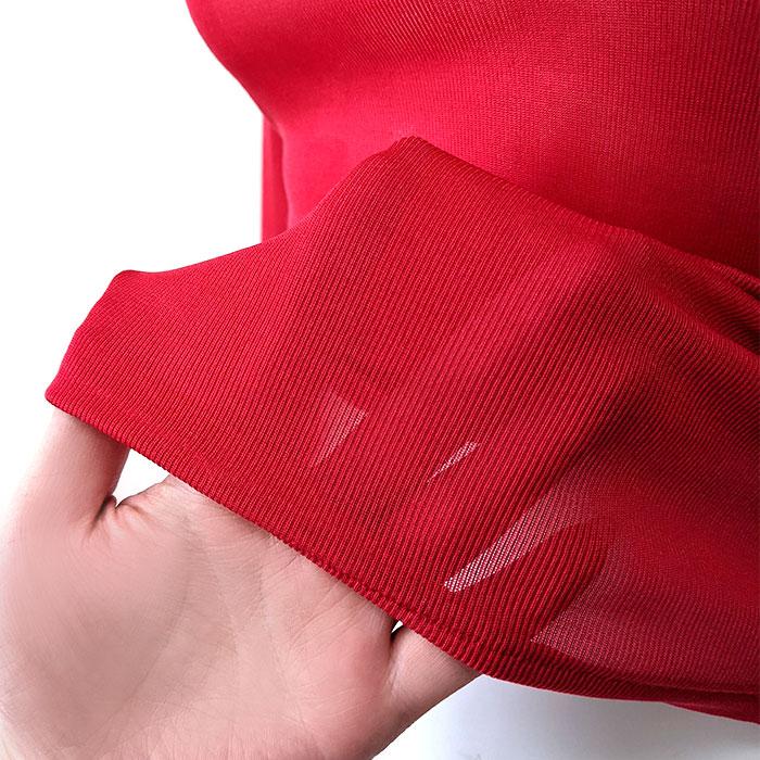 【幸福の赤い下着】 シルクリブ長袖インナー