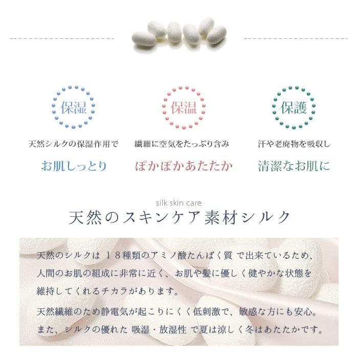 シルク長袖ワンピース(ピンク花柄)