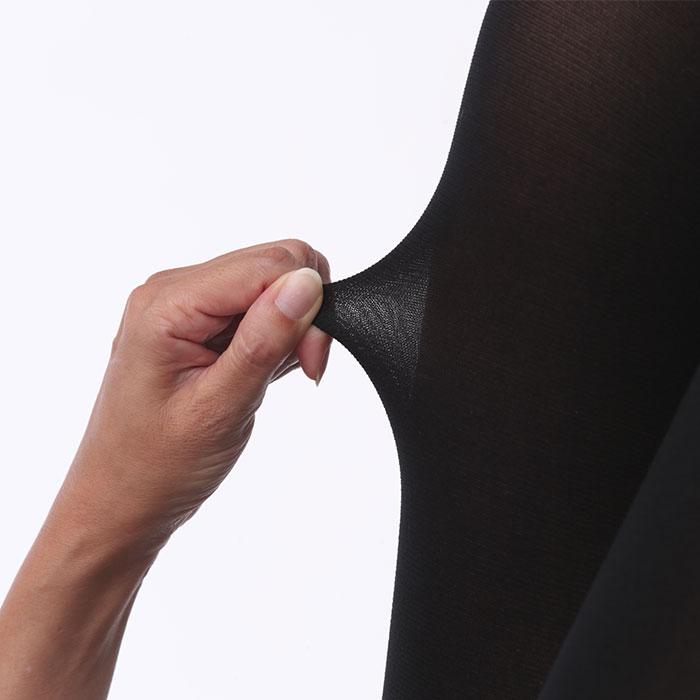 【日本製】 シルクサポートタイツ M−L ブラック