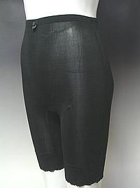 シルクニットリブ5分丈パンツ(裾レース仕様)