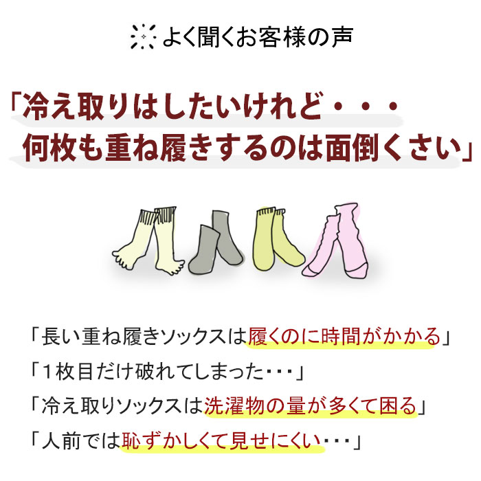 シルク重ね履きハーフソックス(先丸タイプ)
