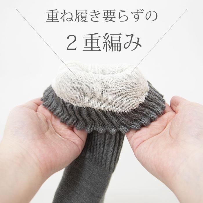 肌側シルクあったか2重編み靴下