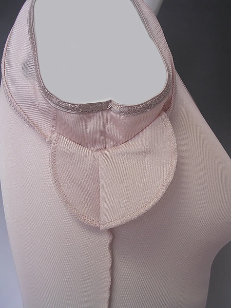 シルクリブ汗取り付きフレンチ袖シャツ