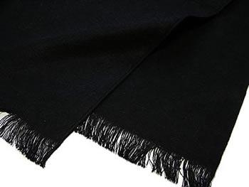 シルク100%モノクロ起毛マフラー(ユニセックス)