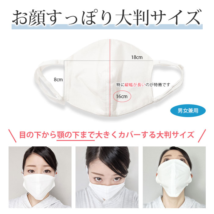 大判 シルク洗えるマスク