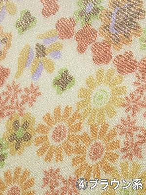 シルクシフォンロングスカーフ (花柄)