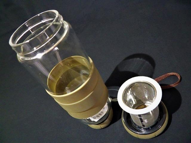 2層式水筒 水筒/土産/中国/お茶/茶こし/健康/便利/デトックスウォーター