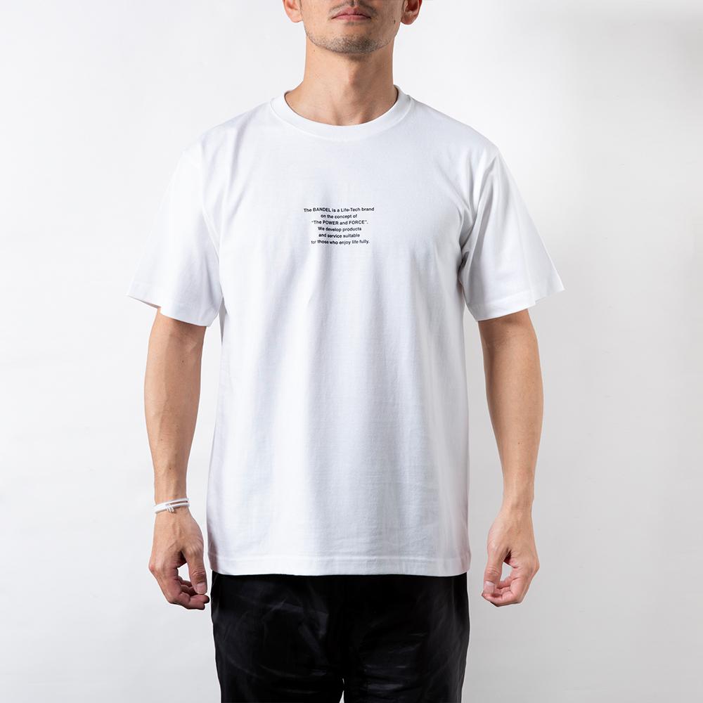 BANDEL Tシャツ S/S TEE Earth Photo Desigin BAN-T013 White