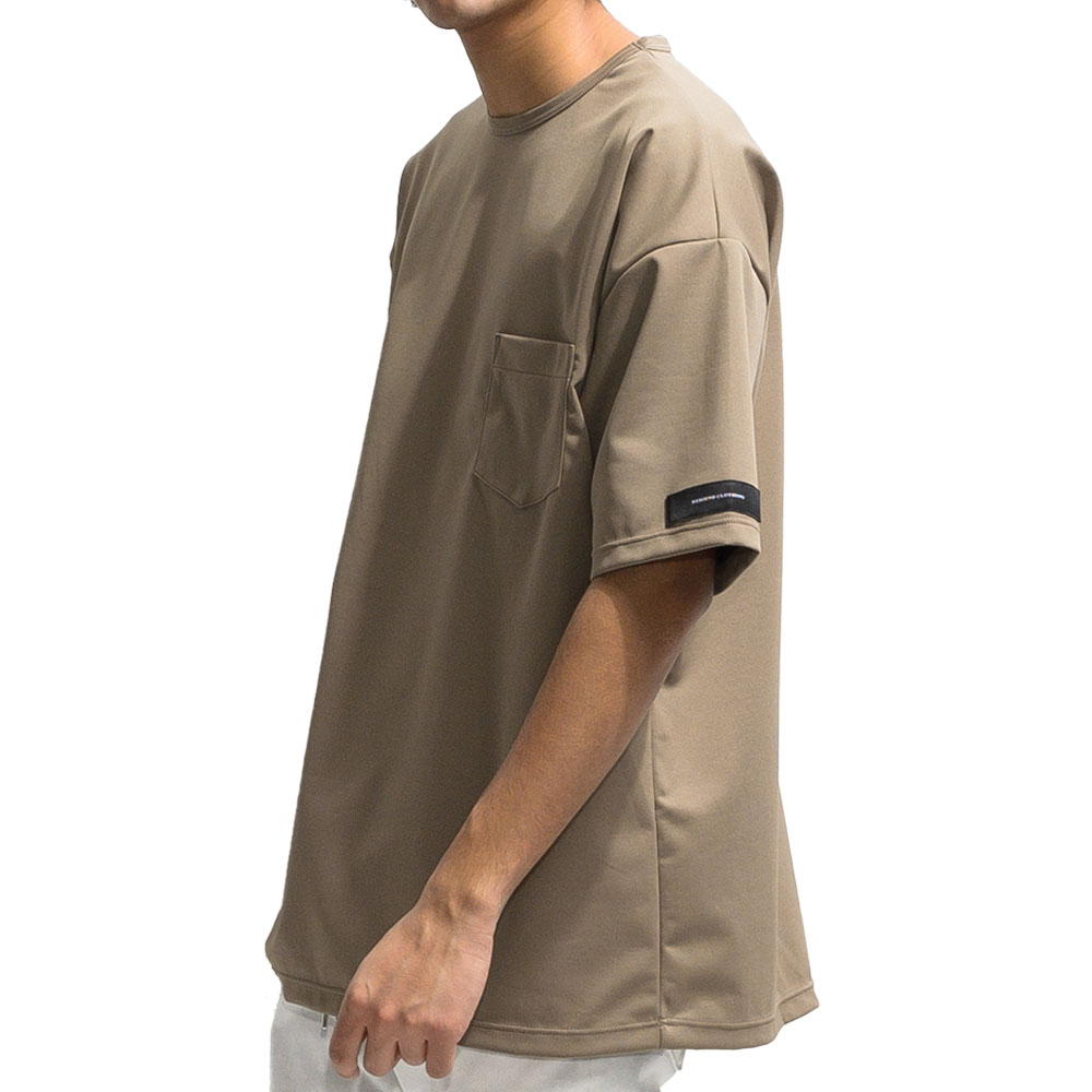 RESOUND CLOTHING Tシャツ Double LOOSE pocket TEE RC20-T-008 BROWN