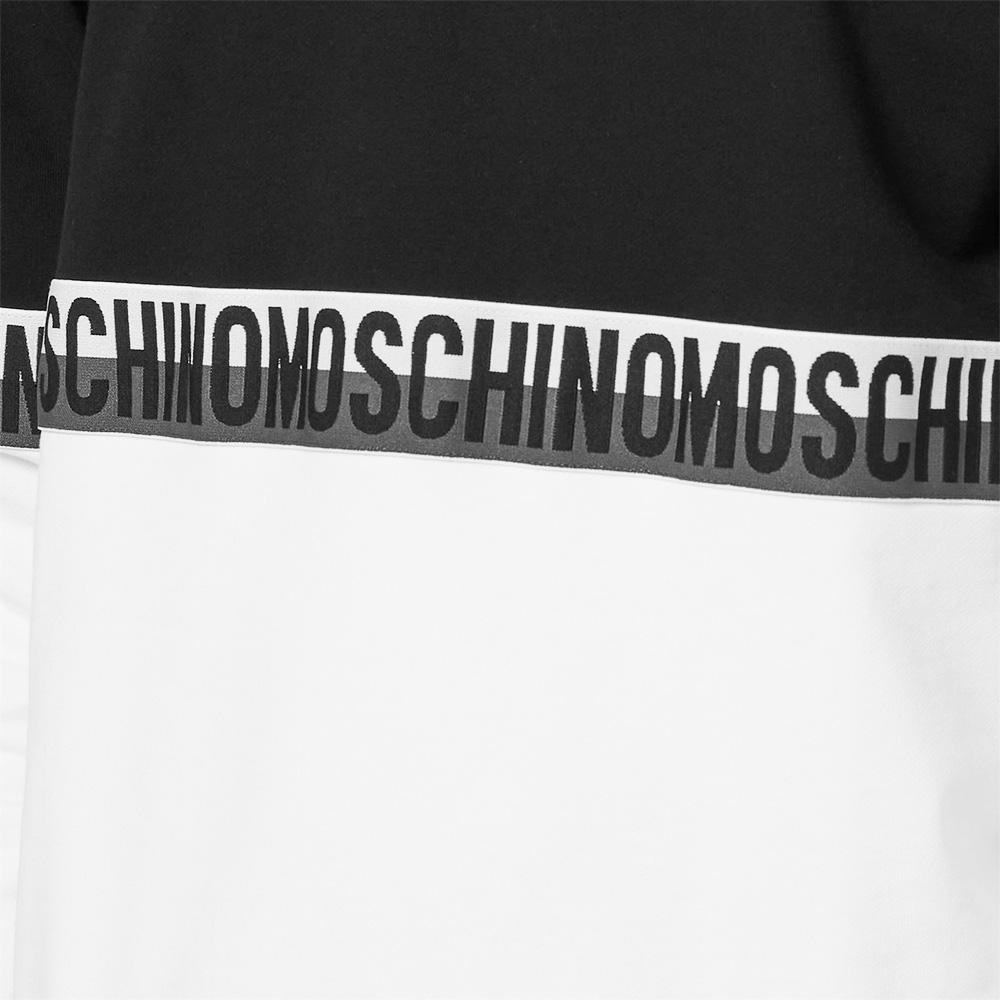 MOSCHINO UNDERWEAR ロンT 1810 8121 WHITExBLACK